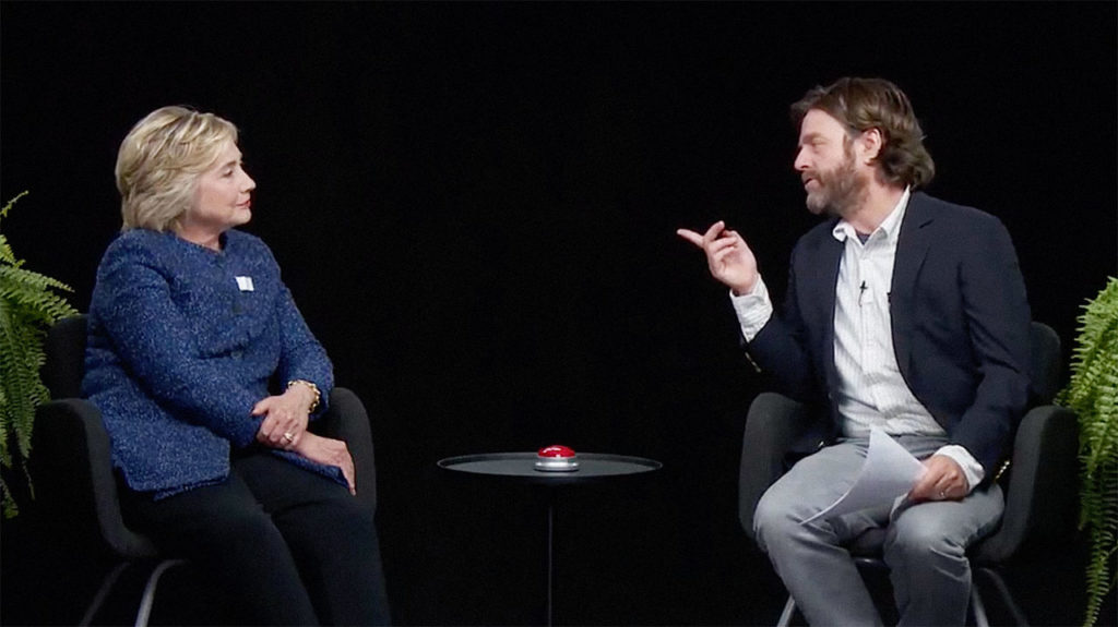 Between Two Ferns Hilary Clinton and Jack Galyfianakis